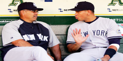 The original Mr. October, Reggie Jackson, shares some insight with A-Rod prior to the postseason.