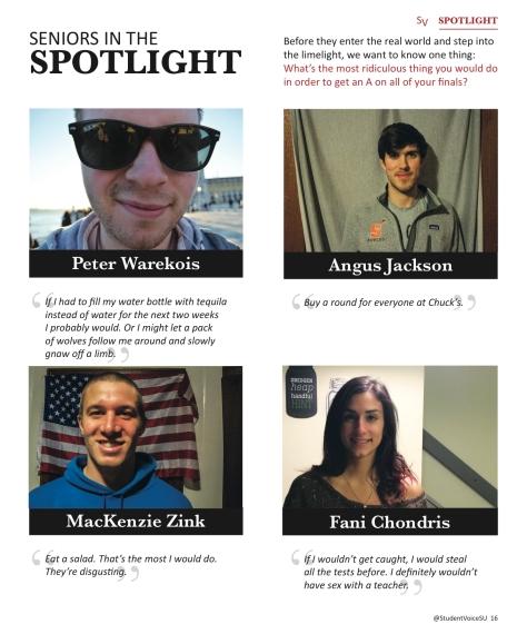 Seniors in the Spotlight